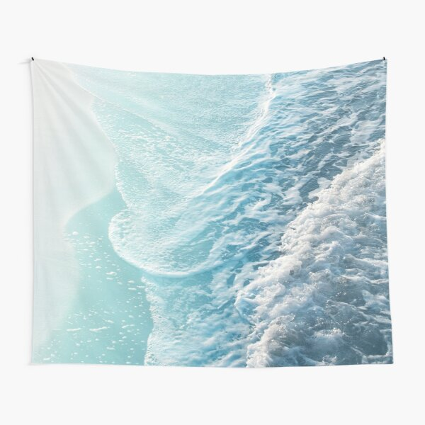 Soft Turquoise Ocean Dream Waves #1 #water #decor #art  Tapestry