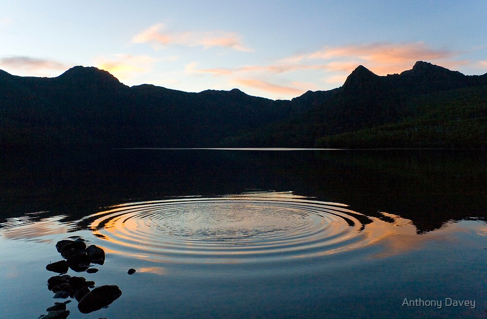 Ripples on the Lake at sunset by Anthony Davey