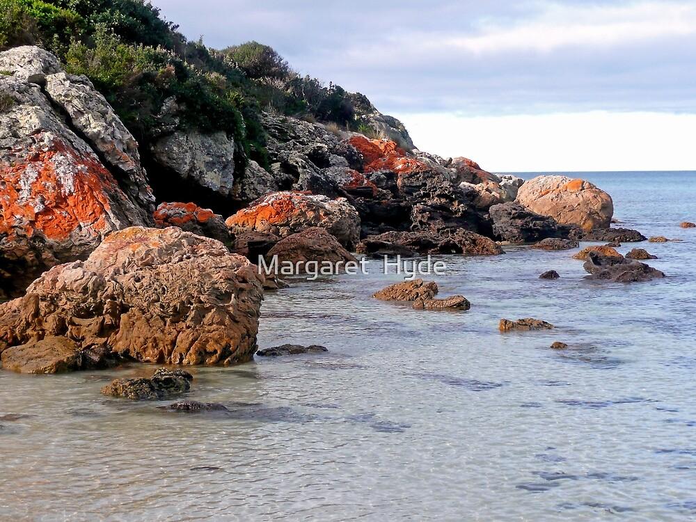 Coloured Rocks, Northern Coast, Tasmania, Australia by Margaret  Hyde