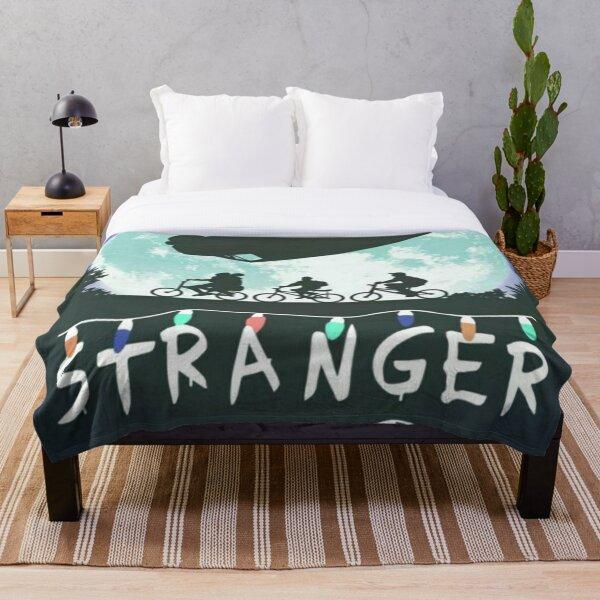 Moon Stranger Things Throw Blanket