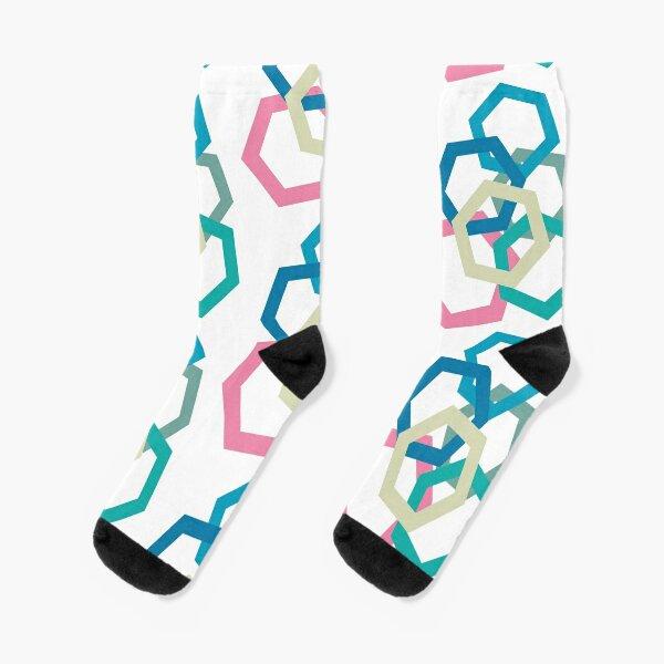 Cold Paper Colorful Hex Portrait Socks