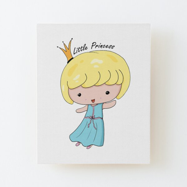 Adorable Little Princess Wood Mounted Print