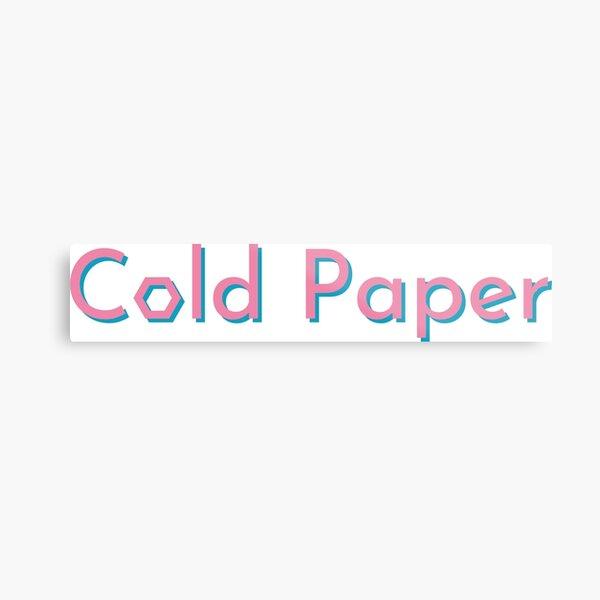 Cold Paper Bicolor Font Metal Print
