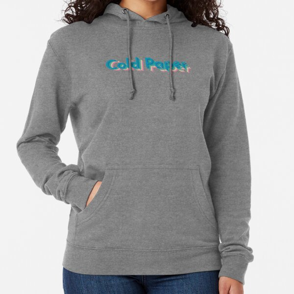 Cold Paper Colorful Font Lightweight Hoodie