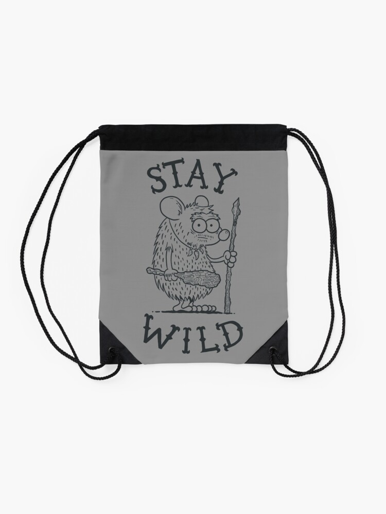 Alternate view of Stay Wild Drawstring Bag