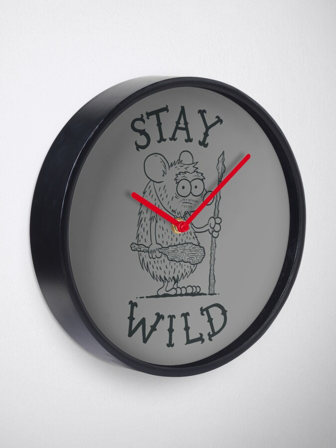 Alternate view of Stay Wild Clock
