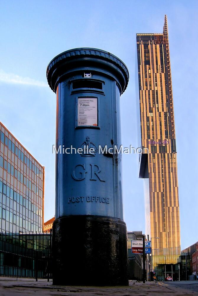 blue post box.. by Michelle McMahon