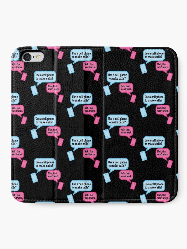 Alternate view of Teens and Phones. Humor for Gen Y and Gen Z. iPhone Wallet