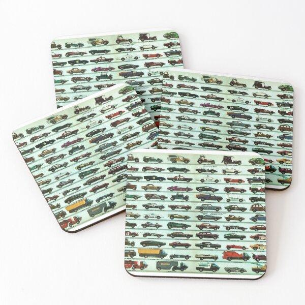 Vintage 1970 Hot Wheels Redline Poster Print Coasters (Set of 4)