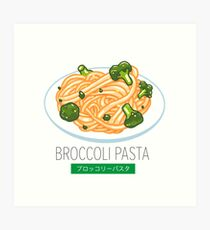 Broccoli pasta Art Print