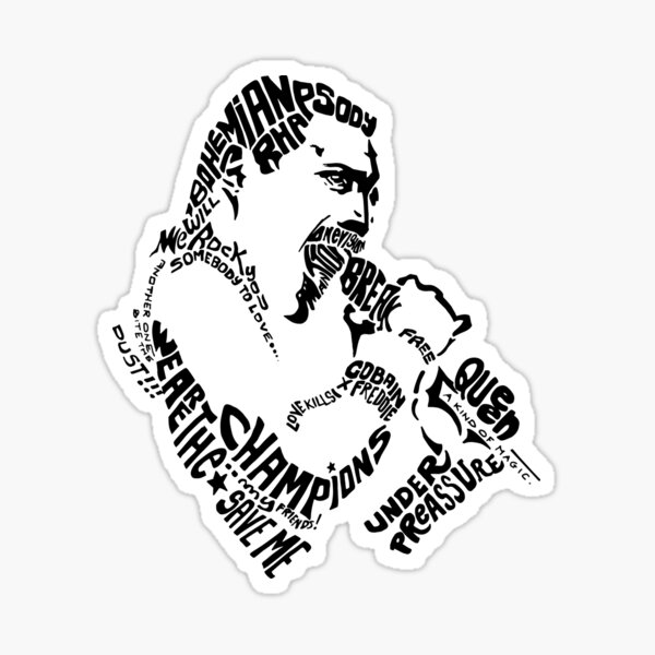 FREDDY white Sticker