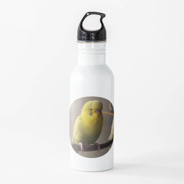 Budgerigar portrait Water Bottle