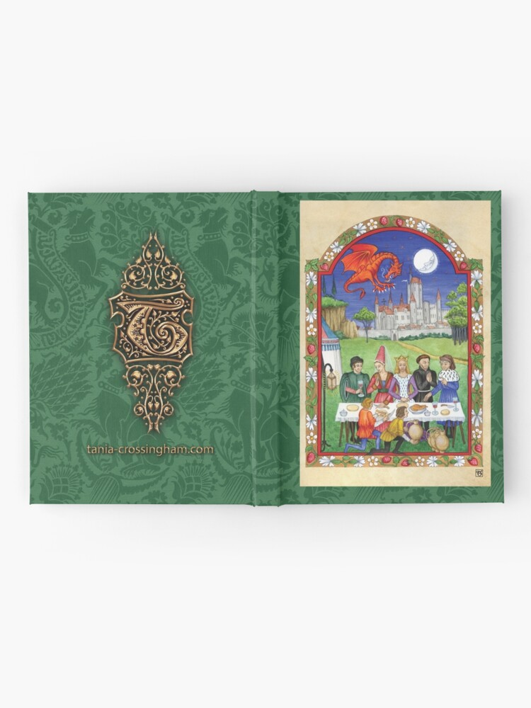 Alternate view of Medieval feast with dragon Hardcover Journal