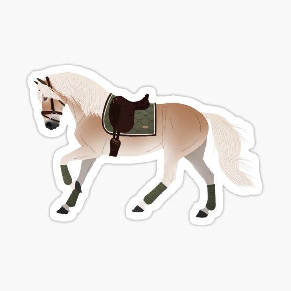 Dressur Haflinger Pony - Pferde Rampaige Sticker