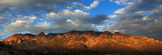 Sandia Crest at Sunset by outcast1