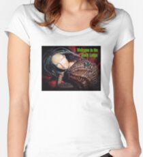 Marbie And Wicker Sqrl At The Black Lodge tee Women's Fitted Scoop T-Shirt