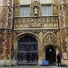 College Door, Kings College Cambridge, UK by artfulvistas