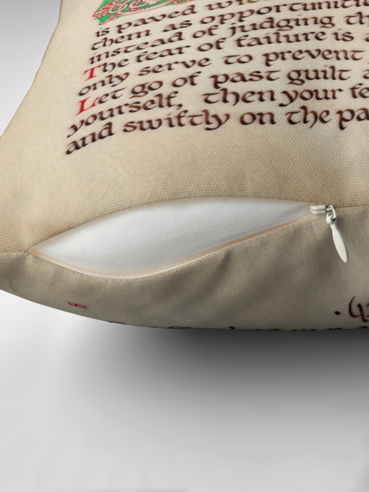 Alternate view of Medieval Illumination - The road to self mastery Throw Pillow