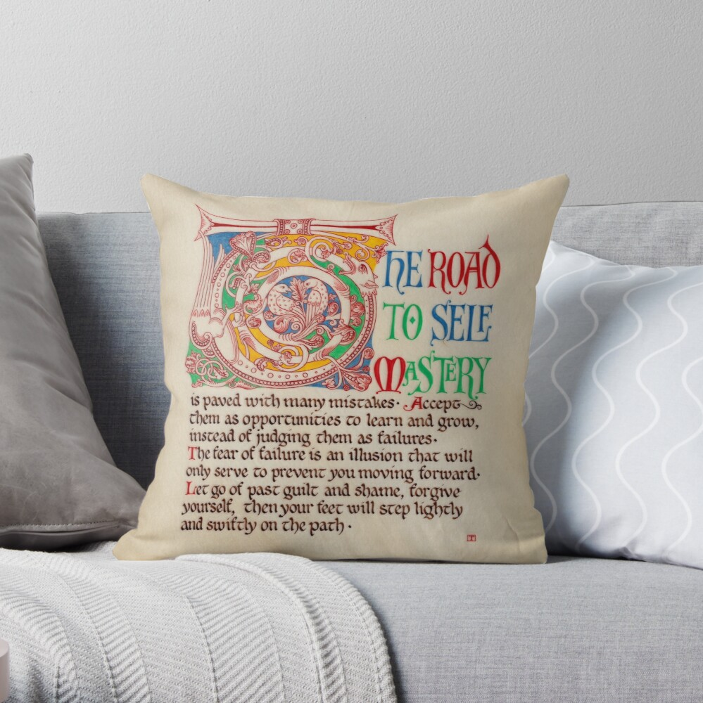 Medieval Illumination - The road to self mastery Throw Pillow