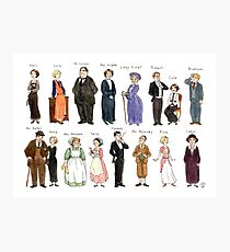 Downton Abbey portraits Photographic Print