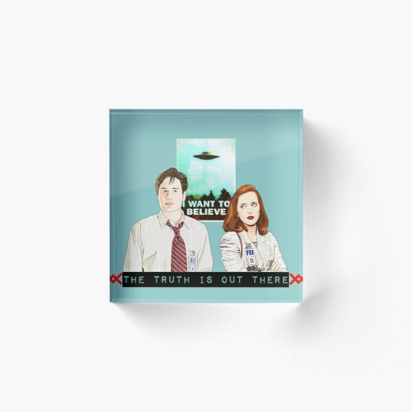 The X files the truth is out there I want to believe by Mimie  Acrylic Block