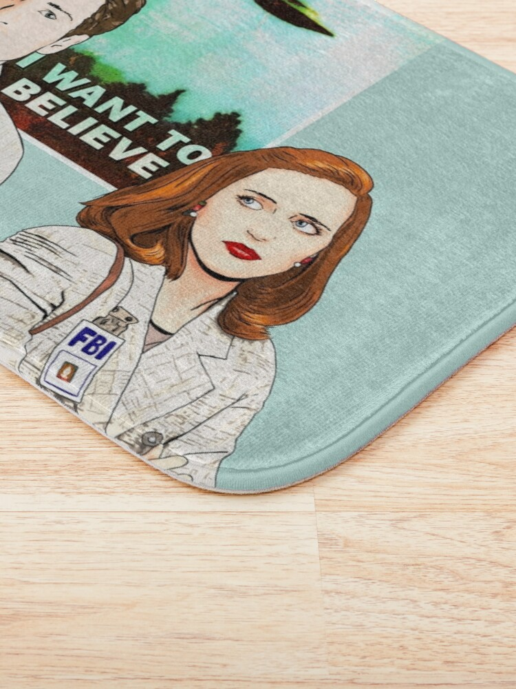 Alternate view of The X files the truth is out there I want to believe by Mimie ( more 70 designs XFiles in my shop) Bath Mat