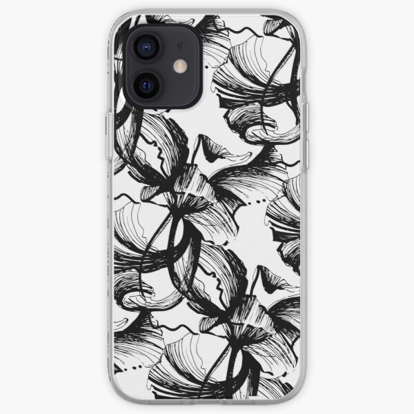 Illustration fleur graphique Coque souple iPhone