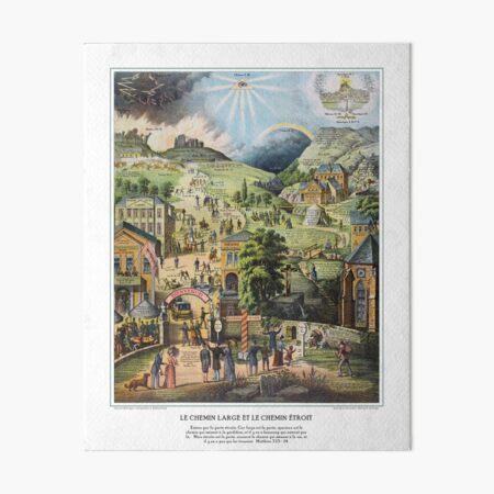 Le Chemin Large et le Chemin Étroit Art Board Print
