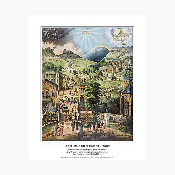 Le Chemin Large et le Chemin Étroit Photographic Print