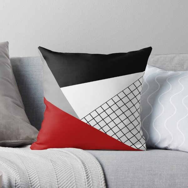 Colorful geometry Throw Pillow
