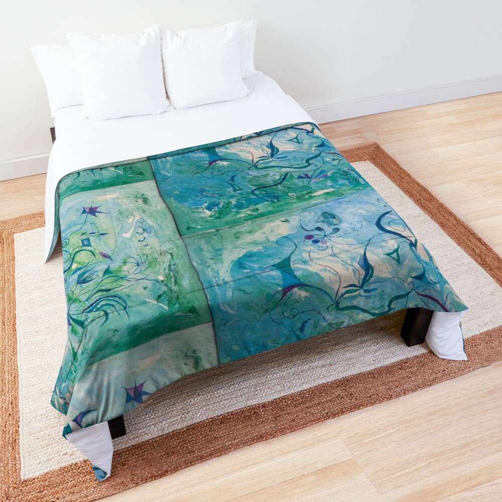 orient impressions abstract art Comforter
