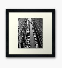Budapest streetscape after the rain Framed Print