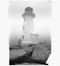 Lighthouse at Peggys Cove Poster