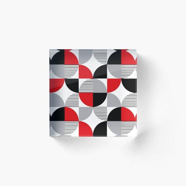 Colorful geometry Acrylic Block