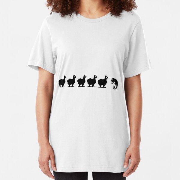 Llama, Llama, Chameleon Slim Fit T-Shirt