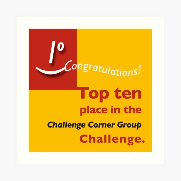 Top ten CCG banner Art Print