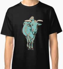 An Illustration of a young bull, Rishikesh, India Classic T-Shirt