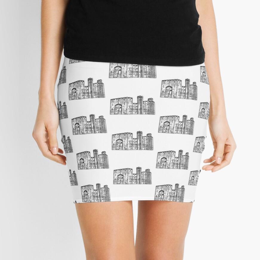 Caernarfon Castle Vector Mini Skirt