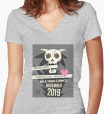 GroglioArt Con Poster Fitted V-Neck T-Shirt