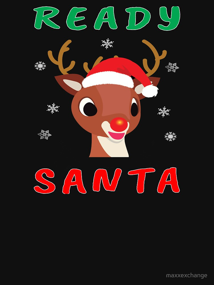 Christmas Rudolph Red Nose Reindeer Kids Gift. by maxxexchange