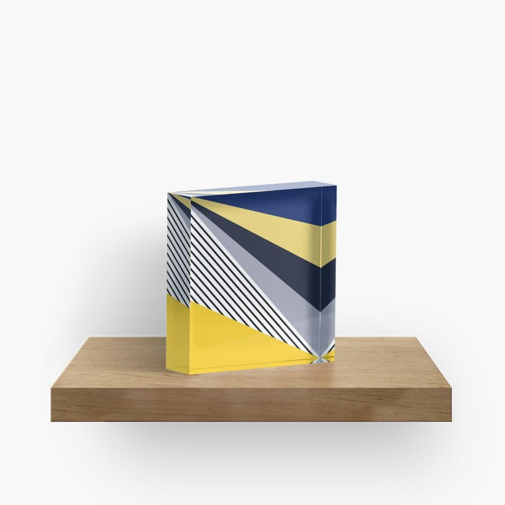 Colorful triangles design  Acrylic Block