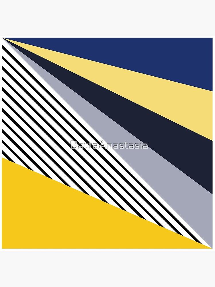 Colorful triangles design  by BattaAnastasia