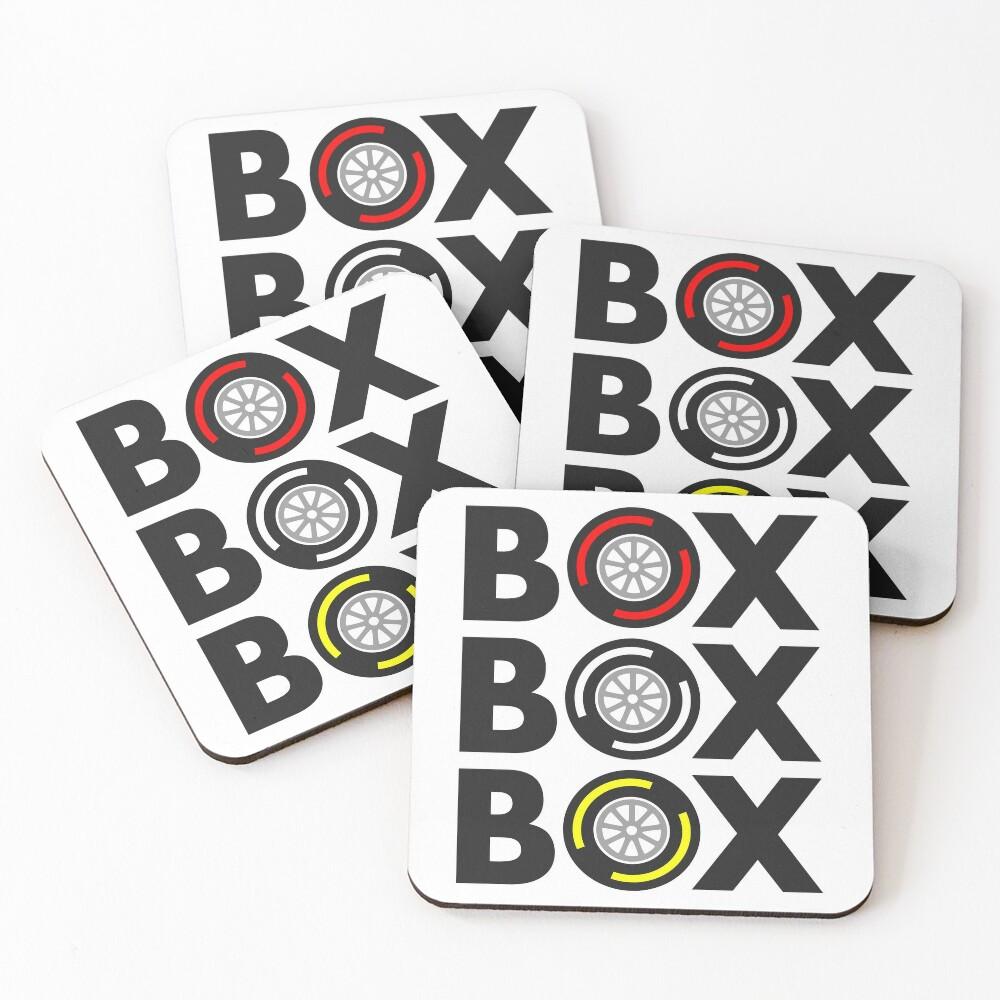 """Box Box Box"" F1 Tyre Compound Design Coasters (Set of 4)"