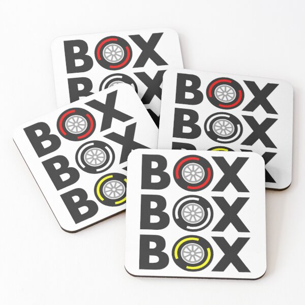 """Box Box Box"" F1 Tyre Compound Design Coasters (Set of 4)"