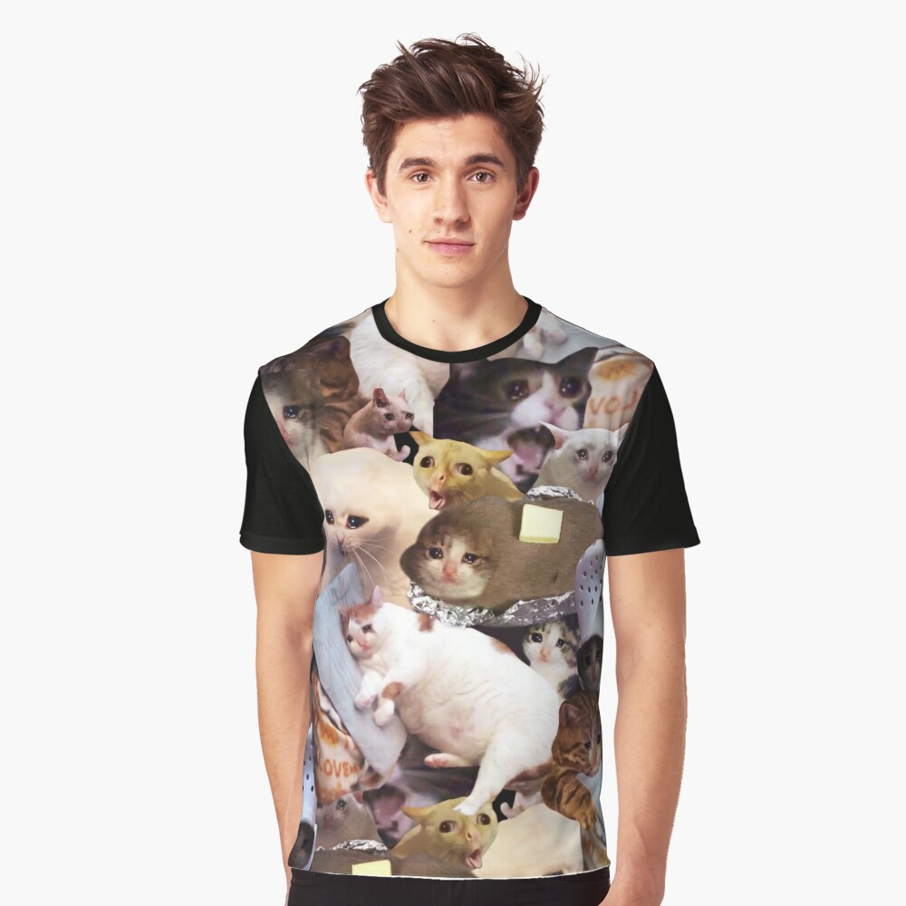 Crying Cat Memes Graphic T-Shirt