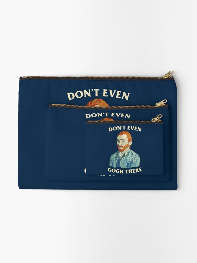 Alternate view of Don't Even Gogh There Zipper Pouch