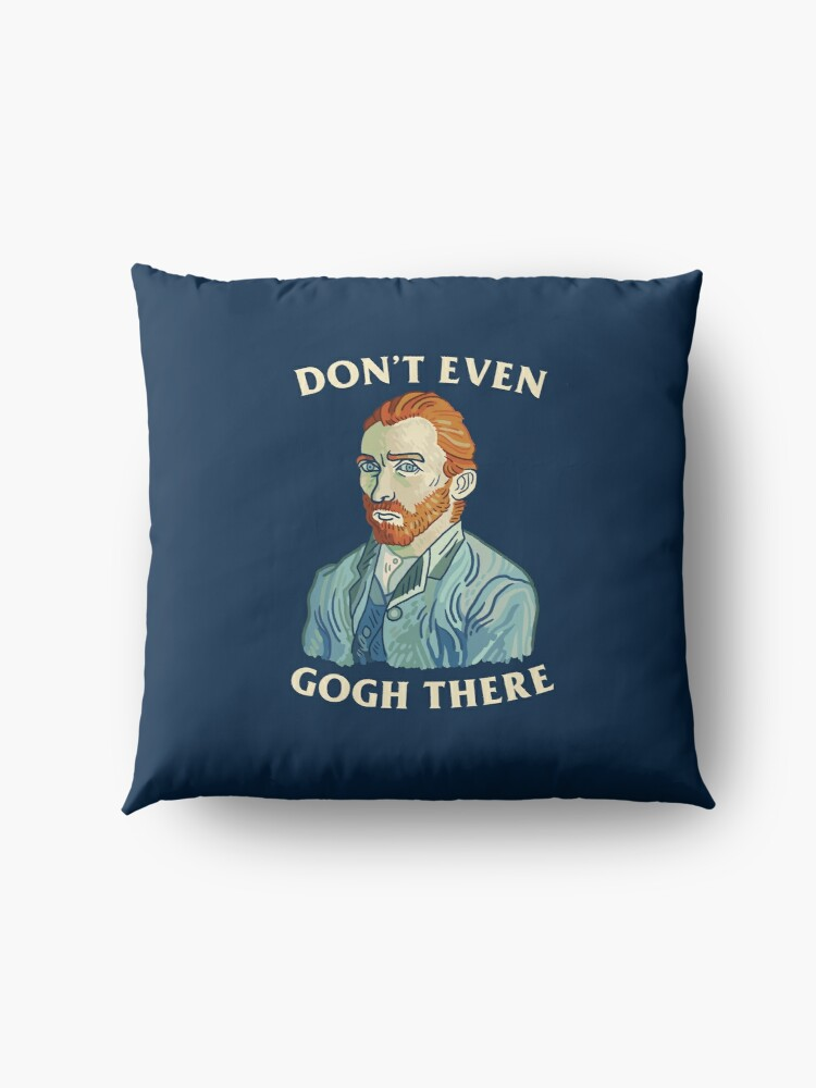 Alternate view of Don't Even Gogh There Floor Pillow