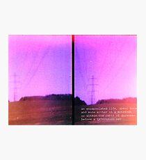 Lomo, Power Lines - Denmark  Photographic Print