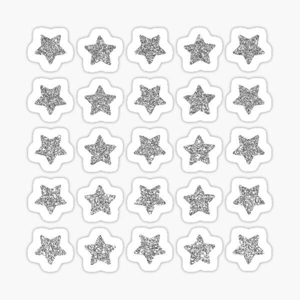 Silver stars mini set sparkle Sticker