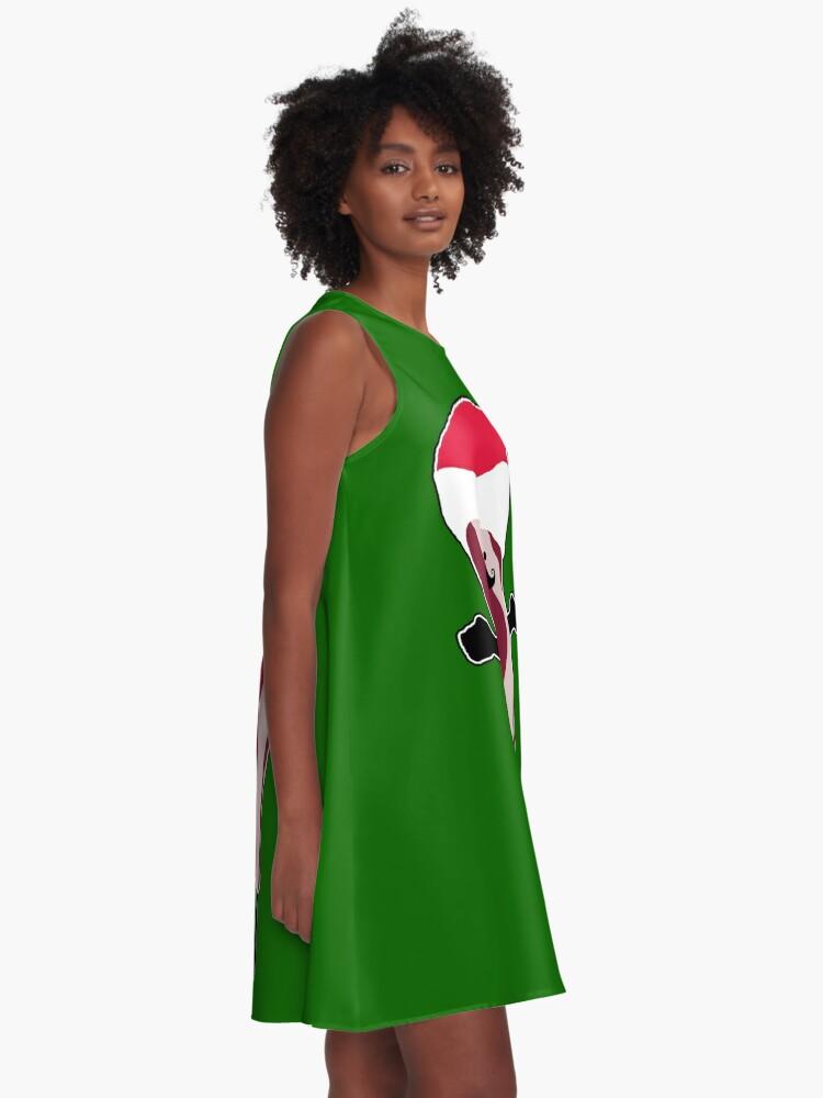 Alternate view of Santa Bacon A-Line Dress